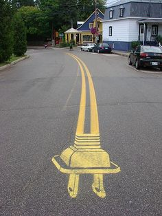 unplugged stretch of road
