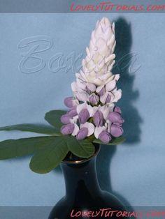 -Gumpaste (fondant, polymer clay) Lupinus (Lupins or lupines) flower making tutorials