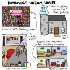 I love this drawing, i would build this if i could Memes & Quotes That Perfectly Describe the INFJ Funny Memes, Hilarious, Jokes, Fun Funny, Super Funny, Book Memes, Mbti, Infp, Book Lovers