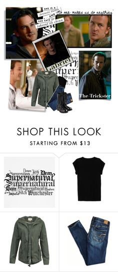 """""""Day 7: Favorite Angel (Besides Castiel)"""" by parisinblackandwhite ❤ liked on Polyvore featuring Polaroid, Isabel Marant, American Eagle Outfitters and Comme des Garçons"""