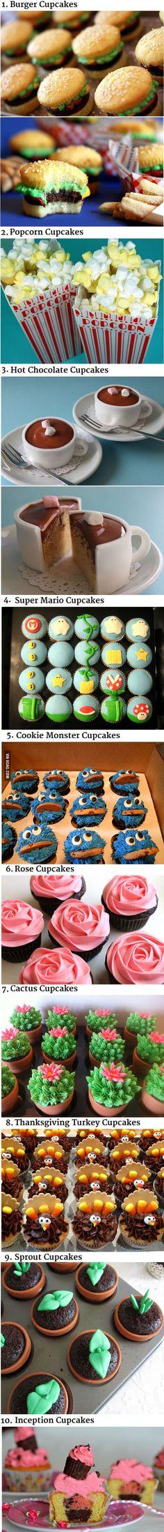 10 Awesome Cupcake Decorating Ideas..