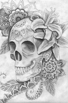 Skull and roses tattoo drawings Arm Tattoos For Guys, Trendy Tattoos, Future Tattoos, Cool Tattoos, Skull Tattoos, Body Art Tattoos, Tattoo Drawings, Sleeve Tattoos, Key Tattoos