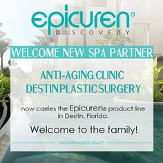Anti-Aging Clinic of Destin - Destin Plastic Surgery now carries Epicuren products. Welcome to the family!  www.epicuren.com