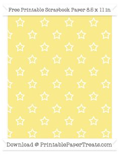 Need to print a silhouette patterned paper to wrap a gift or complete a craft? This free pastel bright orange background small star outline pattern paper may be just the thing you need! Printable Scrapbook Paper, Orange Background, Pastel Yellow, Egg Shells, Pattern Paper, Free Printables, Popular, Stars, Laminas Vintage