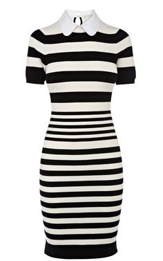 Idreammart Casual Women's Knit Horizontal Stripe Short Sleeve Short Pencil Dress - iDreamMart.com