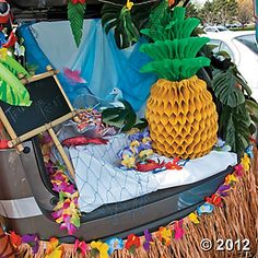 #OrientalTrading #HalloweenWishList  Luau Trunk or Treat Car Decorations
