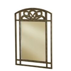 Marsala Gray and Brown Console Mirror