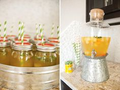 fiesta party drinks in mason jars