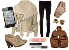 """""""Airport Chic"""" by lydiabe ❤ liked on Polyvore"""