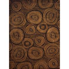 Harmony Tree Trunk Brown Rustic Area Rug (5'3 x 7'2)