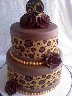 leopard Leopard Print Cakes, Leopard Cake, Leopard Prints, Animal Prints, Pretty Cakes, Cute Cakes, Yummy Cakes, Torta Animal Print, Africa Cake