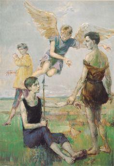 Peintre Philippe Lejeune, l'annonce aux bergers