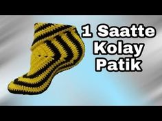 DIY 1 SAATTE KOLAY PATİK (part 1) - YouTube Crochet Boot Socks, Crochet Slipper Boots, Crochet Leg Warmers, Crochet Slipper Pattern, Crochet Poncho Patterns, Crochet Baby Booties, Crochet Slippers, Baby Knitting Patterns, Loom Knitting