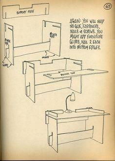 comment faire un bureau en carton: