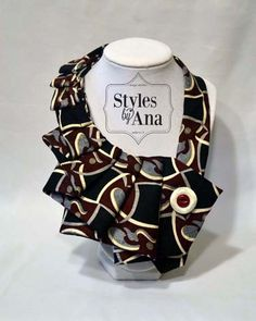 NEW Sangria Unique Upcycled Necktie Art Accessory by stylesbyana