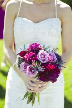 Fuchsia bridesmaid dresses  |  gambol photography