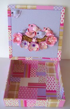 Patchwork decorative MDF box. The design possibilities are endless and it's so cute too.