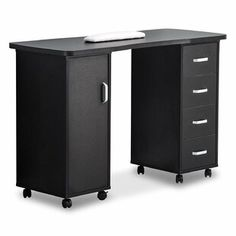 Enjoy exclusive for BarberPub Manicure Acetone Resistant Table Nail Table Beauty Salon Nail Station Desk Nail Art Equipment White/Black 0611 Black) online - Favoritebeautyonline Nail Station, Work Station Desk, Table Storage, Locker Storage, Craft Storage, Fabric Cutting Table, Drawer Rails, Sewing Cabinet, Floating Desk