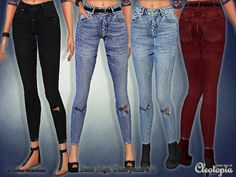 Basic High Waist Skinny Jeans Fix by Cleotopia at TSR via Sims 4 Updates Check more at http://sims4updates.net/clothing/basic-high-waist-skinny-jeans-fix-by-cleotopia-at-tsr/