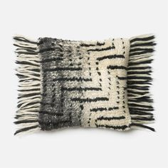 Shop Loloi  Black/Ivory Shag Decorative Pillow at The Mine. Browse our decorative pillows, all with free shipping and best price guaranteed.