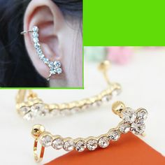 Full Diamond String Ear Cuff (Single, No Piercing) | LilyFair Jewelry, $10.99!