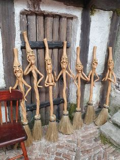 Clay Projects, Clay Crafts, Wood Crafts, Diy And Crafts, Wood Carving Patterns, Wood Carving Art, Halloween Miniatures, Clay Miniatures, Sculpture Clay