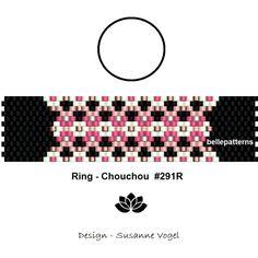 peyote ring pattern,PDF-Download, #291R, beading pattern, beading tutorials, ring pattern design,pdf file,digital,download,bellepatterns von bellepatterns auf Etsy