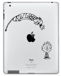 Calvin and Hobbes vinyl decal (for MacBook or iPad) $9