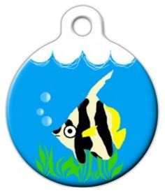 Fly Fishing Dog ID Tag Trout