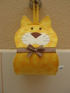 Sewing Crafts, Sewing Projects, Diy Crafts, Diy Toilet Paper Holder, Cat Toilet, Sewing Box, Handicraft, Patches, Crochet Patterns