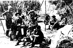 Scouts at Motu Moana, the Auckland Scout Association's training area at Green Bay. January 1945.