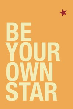 """47*70 cm poster """"Be your own star # 1"""""""