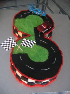 Number 3 Cars Cake By suzie150180 on CakeCentral.com