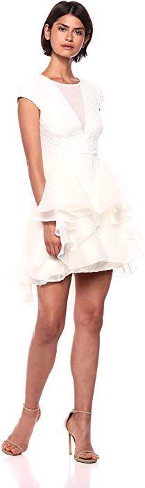 New Halston Heritage Women's Cap Sleeve V Neck Lace Dress Skirt Overlay online - Chicideas Lace Overlay Dress, Lace Dress, Strapless Lace Wedding Dress, Formal Dress Shops, Dress The Population, Halston Heritage, Fit Flare Dress, Women's Fashion Dresses, Dress Skirt