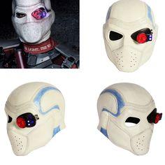 XCOSER Suicide Squad Deadshot Helmet Full Head COSplay Hero Halloween Mask Props