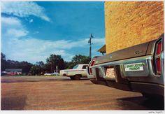 William Eggleston Untitled ('Jimmy Carter...' bumper), 1976/2011 Dye-transfer print © Gagosian Gallery