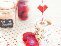 Cupid's Hot Chocolate --> http://www.hgtv.com/entertaining/valentines-day-project-cupids-arrow-hot-chocolate/index.html?soc=pinterest