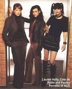 Lauren, Cote, and Pauley (Jenny, Ziva, and Abby)