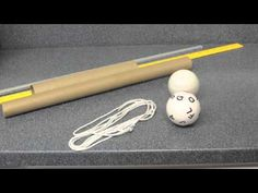 "Bunt Ball for eye tracking. This video, although a bit slow moving, provided an excellent overview, including how to set up the ball. The laminator core are especially good, as are rolling pins. I also like to put colored tape at the middle of the ""bat"" and toward either side."