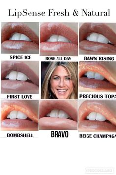 Natural LipSense colors that are great for every day wear! I love my Senegence products, if you are interested message Lip Makeup, Makeup Tips, Beauty Makeup, Hair Beauty, Beauty Secrets, Beauty Hacks, Beauty Tips, Shadow Sense, Long Lasting Lip Color