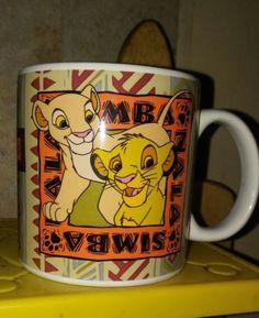 Disney The Lion King Simba and Nala Coffee Mug Cup EUC