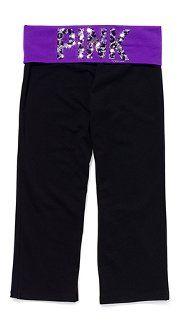 PINK Yoga cropped pants, 36.50