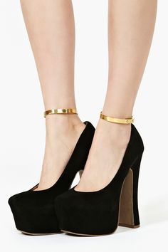 Gold Metal Ankle Cuffs