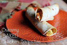 BAKED Creamy Chicken Taquitos!