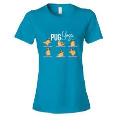 Pug Yoga Women's Tee #yoga #gym #pug #dogs