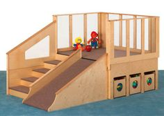 Jonti-Craft Tiny Tots Play Loft at School Outfitters Kids Indoor Playhouse, Build A Playhouse, Indoor Playground, Backyard Playhouse, Montessori, Types Of Flooring, Flooring Options, Classroom Furniture, School Furniture