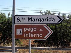 Portugal 2011 - Pego do Inferno - der Wegweiser