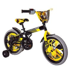 Dynacraft Transformers Bumble Bee Boys BMX Street Bike 16 Black/Yellow/Gray *** Continue to the product at the image link. (This is an affiliate link) Bmx Bikes, Road Bikes, Cruiser Bikes, Bike With Training Wheels, Bmx Street, Mountain Bikes For Sale, Transformers Bumblebee, Bike Pedals, Ride On Toys