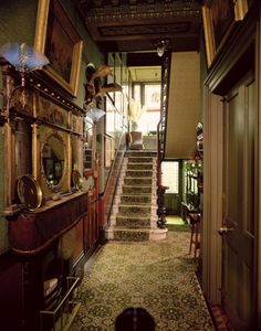 inside old victorian homes | Stairs and hall Linley Sambourne House