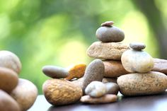 Bunch of Stones grouped together. Beach stones wallpaper